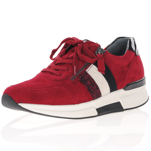 Gabor - 928.38 Rolling Soft Suede Trainers, Red
