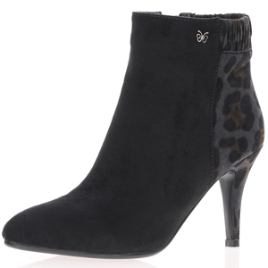Hannah B - 0150 Black Dressy Heeled Ankle Boot