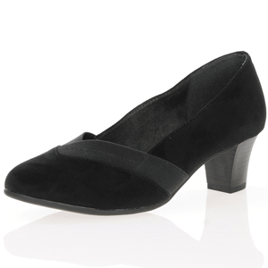 Jana - Soft Line 22465 Court Shoe, Black