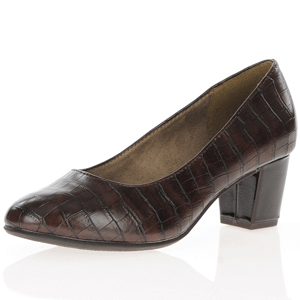 Jana - Soft Line 22469 Court Shoe, Cognac