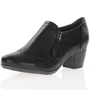 Jana - Soft Line 24461 Block Heel Shoe, Black
