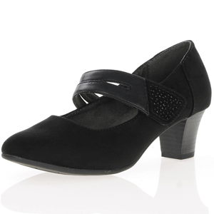 Jana - Soft Line 24463 Mary Jane Shoe, Black