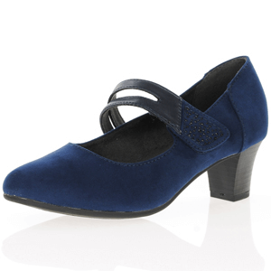 Jana - Soft Line 24463 Mary Jane Shoe, Navy