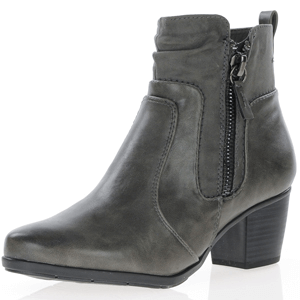 Jana - Soft Line 25370 Ankle Boots, Graphite