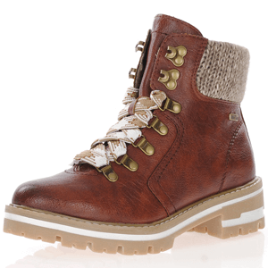 Jana - 26220 Water Resistant Ankle Boot, Cognac