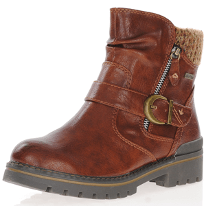 Jana - 26420 Water Resistant Ankle Boots, Chestnut