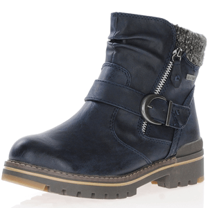 Jana - 26420 Water Resistant Ankle Boots, Navy