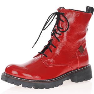 Josef Seibel - Marta Leather Lace Up Boots, Red