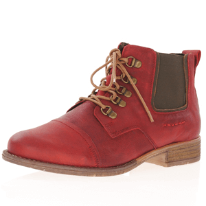 Josef Seibel - Sienna 09 Lace Up Ankle Boot, Red