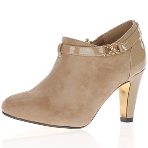 Kate Appleby - Mitcham Heeled Shoe Boot, Beige