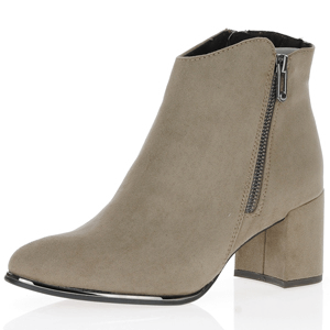 Marco Tozzi - 25015 Block Heel Ankle Boots, Taupe