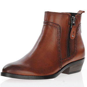 Marco Tozzi - 25393 Leather Ankle Boots, Cognac