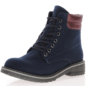 Marco Tozzi - 26231 Lace Up Ankle Boots, Dark Navy