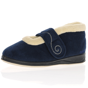 Padders - Hush Warm Lined Slippers, Navy