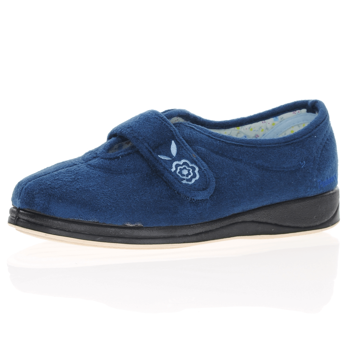 Padders - Camilla Front Strap Slippers, Blue