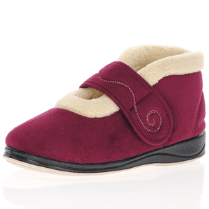 Padders - Hush Warm Lined Slippers, Burgundy