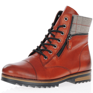 Remonte - R2294-38 Leather Ankle Boots, Burnt Orange
