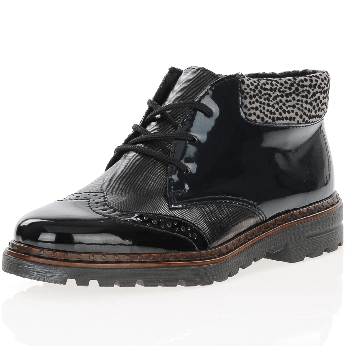 Rieker - 54839-00 Patent Ankle Boot