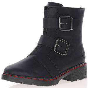 Rieker - 76360-01 Ankle Boot with Buckles, Black