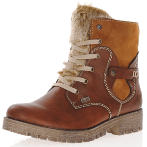 Rieker - 785G1-23 Water Resistant Ankle Boots, Brown