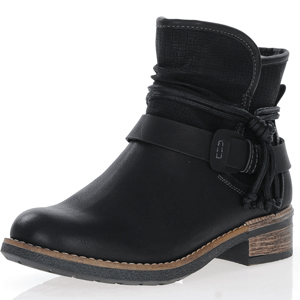 Rieker - 94689-00 Warm Lined Ankle Boots, Black