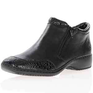 Rieker - L3862-45 Twin Zip Ankle Boots, Black