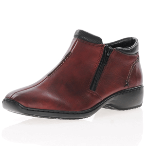 Rieker - L3882-35 Twin Zip Ankle boots, Red