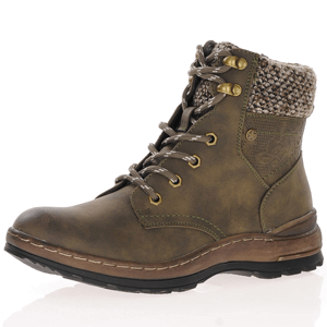 Susst - Fern Lace Up Ankle Boots, Khaki