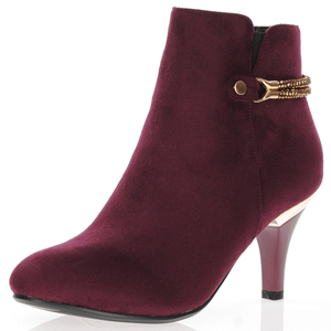 Susst - Donna Dressy Ankle Boots, Burgundy
