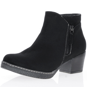 Susst - Dusty Block Heel Ankle Boots, Black