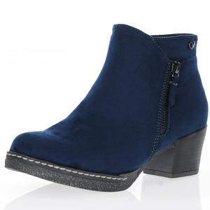 Susst - Dusty Block Heel Ankle Boots, Navy
