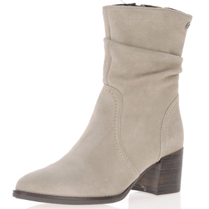 Tamaris - 25023 Suede Slouch Boots, Taupe