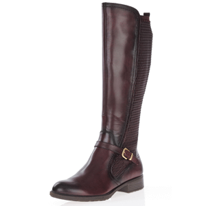 Tamaris - 25511 Leather Knee Boots, Bordeaux