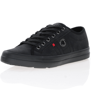 s.Oliver - 23608 Lace Up Trainers, Black