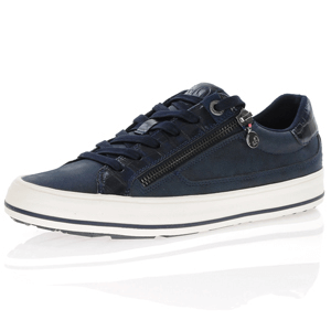 s.Oliver - 23615 Lace Up Trainers, Navy