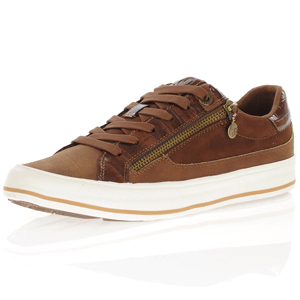 s.Oliver - 23615 Lace Up Trainers, Nut