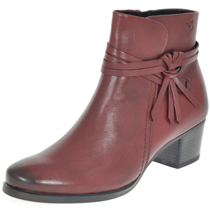 Caprice - 25359 Leather Ankle Boot, Bordeaux