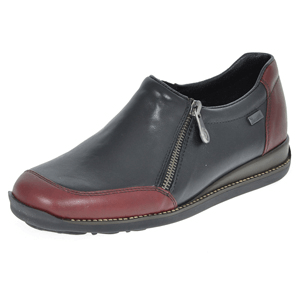 Rieker - 44294-35 Water Resistant Leather Shoe, Black