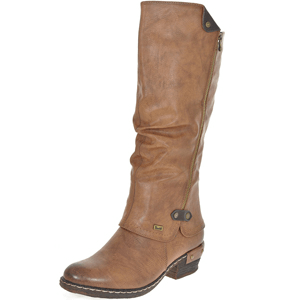 Rieker - 93655-26 Warm Lined Long Boots, Tan