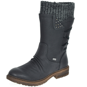 Rieker - 94773-00 Water Resitant Boot, Black