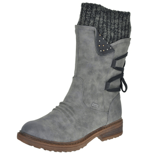 Rieker - 94773-45 Water Resistant Boot, Grey