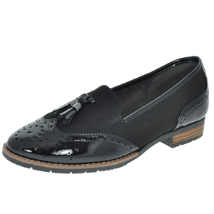 Jana - Soft Line 24260 Slip-On Loafer, Black