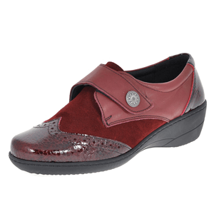 Softmode - Jo Suede and Patent Brogue, Bordeaux