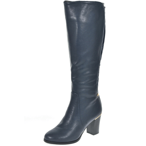 Zanni & Co - Style One Heeled Long Boot, Navy