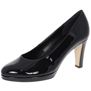 Gabor - Splendid 21.270.77 Patent Platform Heeled Pump, Black