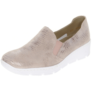 Rieker - 587B0-62 Low Wedge Shoe, Rose