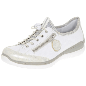 Rieker - L3263-80 Ladies Lace-Up Trainer, White