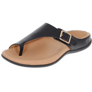 Strive Footwear - Java Leather Toe Loop Sandal, Black