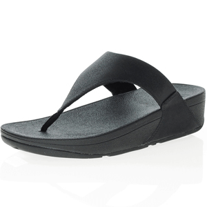 Fitflop - Lulu Shimmer Toe-Post Sandal, Black