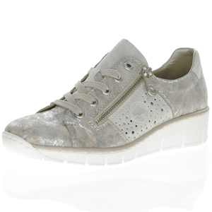 Rieker - 53715-90 Metallic Low Wedge Shoe, Grey